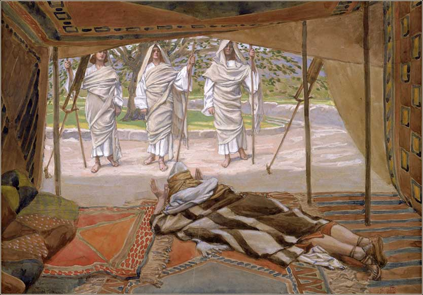 <i>Abraham and the Three Angels</i>, by James Tissot, ca. 1896.