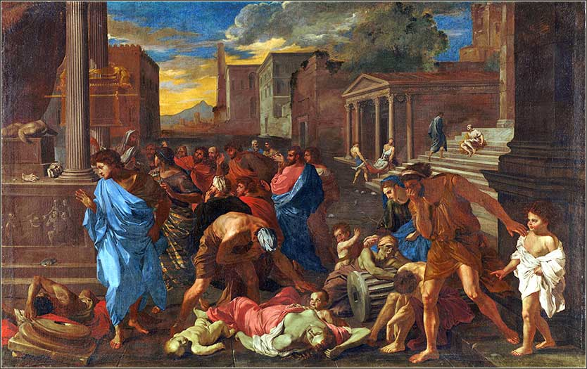 <i>The Plague at Ashdod</i>, by Angelo Caroselli, ca. 1630.