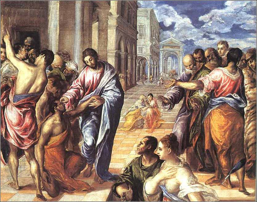<i>Christ Healing the Blind</i>, El Greco, ca. 1578.