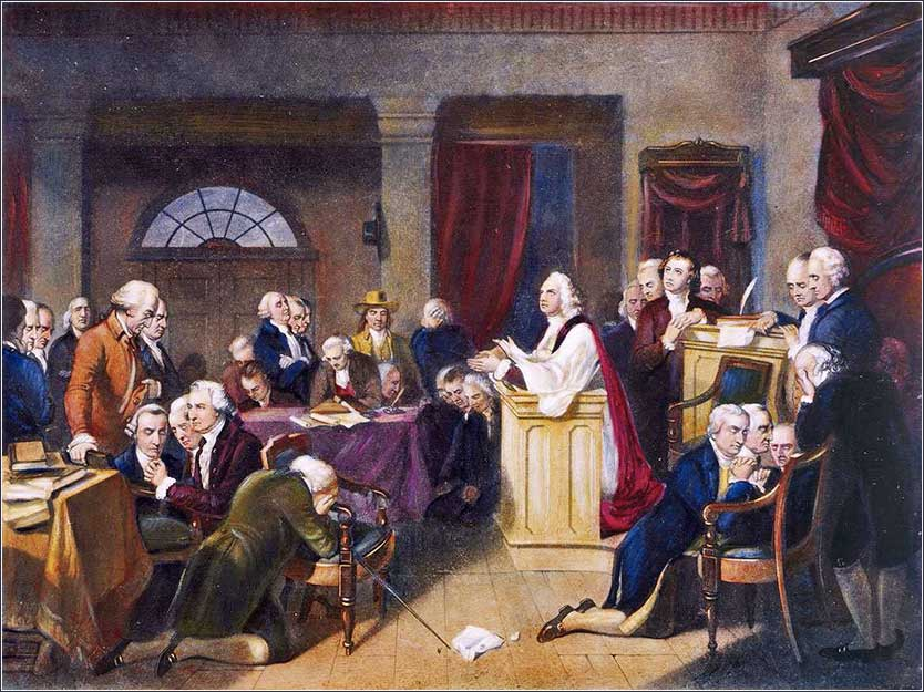 <i>The First Prayer in Congress</i>, by Tompkins Harrison Matteson, 1848