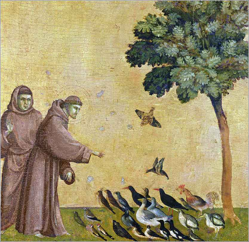 <i> Saint Francis Of Assisi Preaching To The Birds</i>, by Giotto di Bondone, ca. 1300