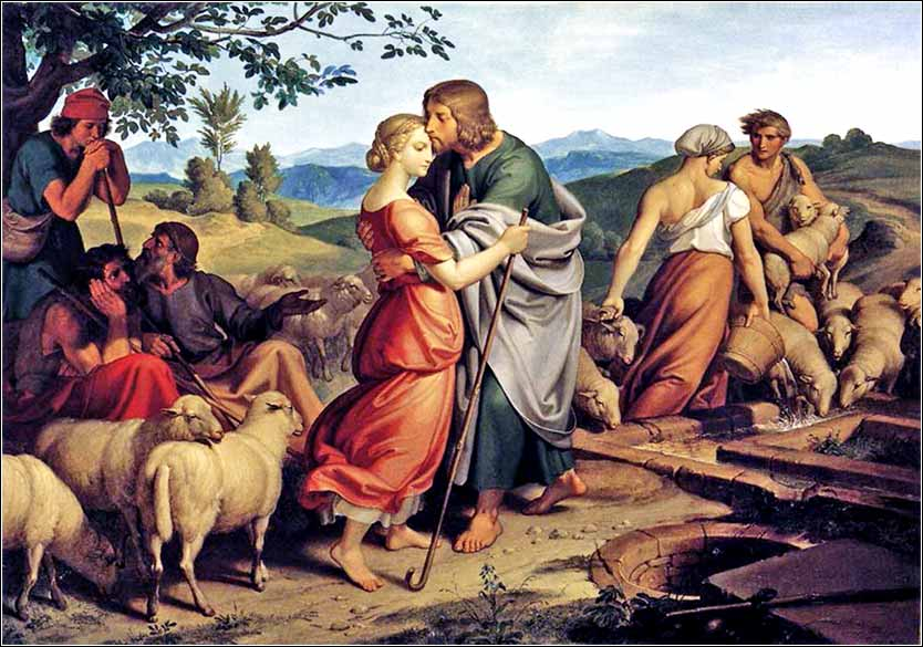 <i>Jacob Encountering Rachel With Her Fathers Herds</i>, Joseph von Führich, 1836.