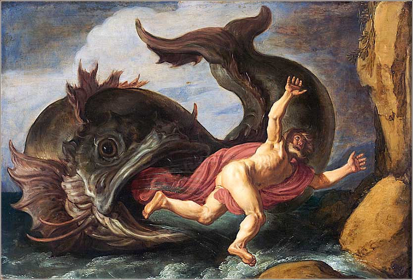 <i>Jonah and the Whale</i>, by Pieter Lastman, 1621.
