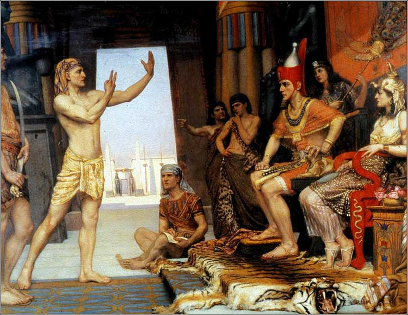 <i>Joseph Interprets Pharaoh's Dream</i>, by Reginald Arthur, 1894.