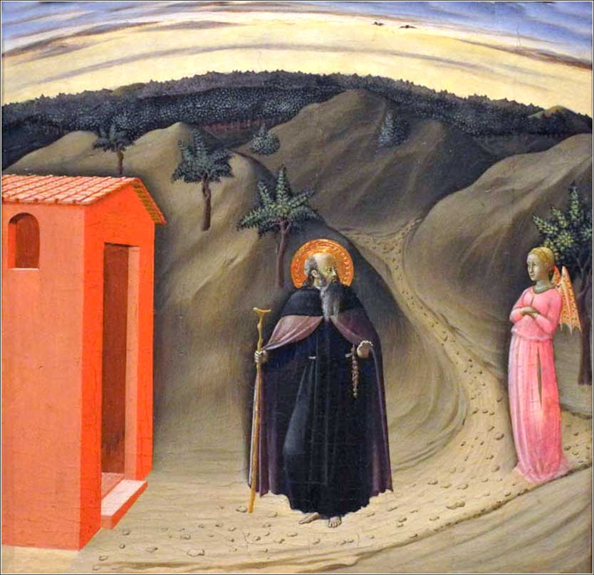 <i>Temptation of St. Anthony Abbot</i>, by the Master of the Osservanza, ca. 1440.
