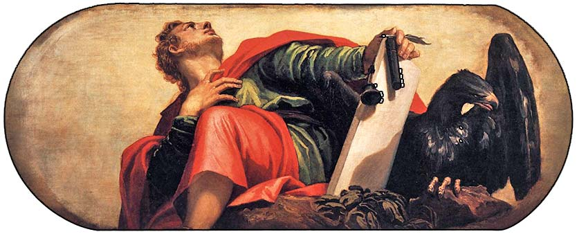 <i>St John the Evangelist</i>, by Paolo Veronese, ca. 1555.