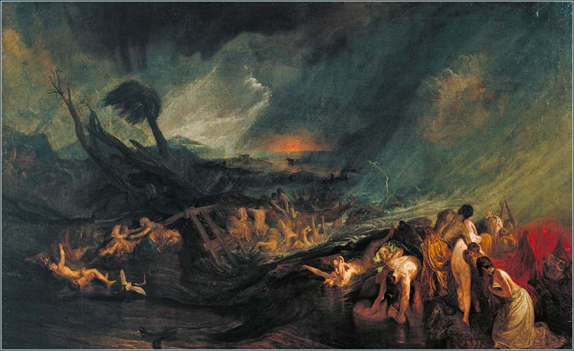 <i>The Deluge</i>, by William Turner, ca. 1805.