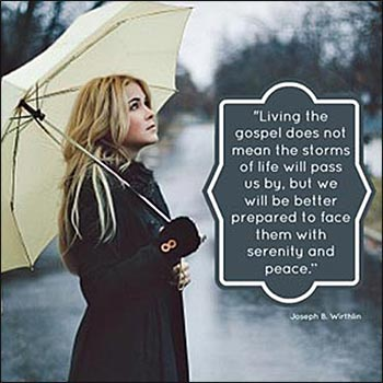Living the Gospel does not mean that the storms of life will pass us by . . .